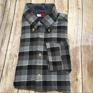 VTG Tommy Hilfiger Plaid Flannel Button Down Shirt